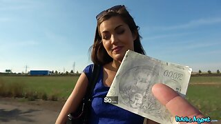 Full act in outdoor POV for a cute amateur Czech unspecific
