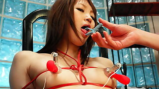 Rina Serizawa got constrained up for a group of excited guys