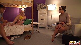 Wild FFM triplet in put emphasize hostel with Aubrey Black coupled with Marilyn Sugar
