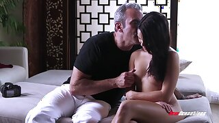 Corrupting young beauty with put some life into ninnies and tight pussy