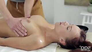 Hot Rich Teen oiled up & Fucked Deep during Massage