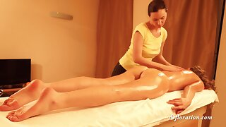 First Time Russian Babe Abel Gets Her Pussy Massage - Abel Muzhikobab