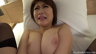Oshikawa Yuri is ready for hard sex with her boyfriend on the bed