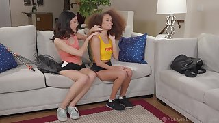 Interracial sensual pussy licking with Harmony Wonder and Cecilia Lion