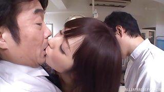 Asakura Yuu's pussy drips with cum after a hardcore gangbang