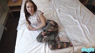 Beautiful Russian Teen of 1 takes a big cock and an incredible facial.