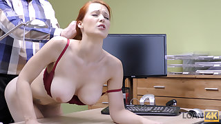 LOAN4K. Redhead Isabella Lui with huge jugs has coitus
